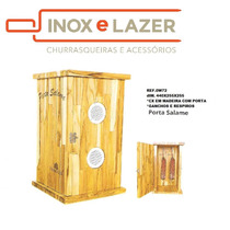 Porta Salame - Caixinha Para Guardar Queijo, Defumados, Etc