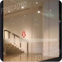 Adesivo Jateado Faixa P/ Sinalização De Portas De Vidro