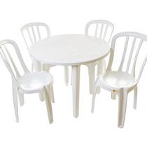 Jogo De Mesa Redonda Com 4 Cadeiras Bistrô