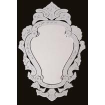 Espelho Bisotado Para Sala Jantar Retro