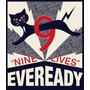 Placas Decorativas Pilhas Gato Eveready Energy Propaganda