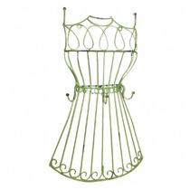 Pendurador Manequim Vestido Saiote Verde Em Ferro