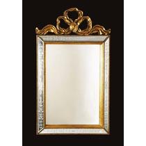 Espelho Decorado Para Salao De Beleza Moldura Retangular