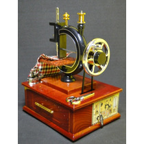 Novidade !!!!! Maquina Costura Porta Joias Musical Miniatura