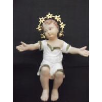 B. Antigo - Imagem Sacra Em Baquelite Alemão Do Menino Jesus