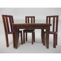 B. Antigo - Mesa E 3 Cadeiras Miniatura Para Casa De Bonecas