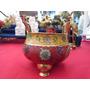Incensário De Bronze E Cloisonné Tibetano