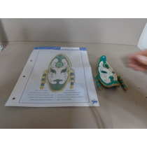 Mascara Veneziana Rosto Da Lua 13cm Massa/biscui