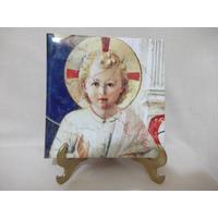 B. Antigo - Quadro Azulejo Com Imagem Do Menino Jesus