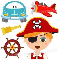 Adesivo Parede Infantil Bebe Carros Pirata Barco Fundo Mar