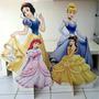 Kit Cenário Display De Chão Princesas Disney Com 4 Peças
