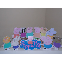 Kit Display De Mesa Peppa Pig E Amigos - Kit Com 11 Enfeites
