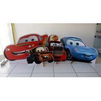 4 Display De Chão Carros Disney Totem Painel Cenário