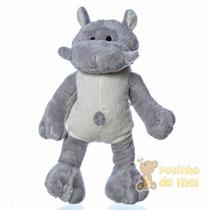 Bicho De Pelúcia Hipopótamo Decoração Quarto Bebê E Infantil
