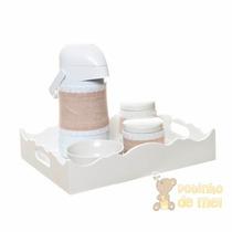 Kit Higiene Bandeja Ondulada Com Capa Tecido Bebê E Infantil