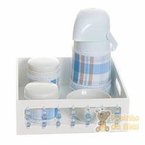 Kit Higiene Bandeja Pedras Com Capa Menino Bebê E Infantil