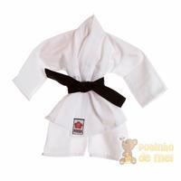Kimono Branco Com Faixa Preta Recém Nascido E Bebê