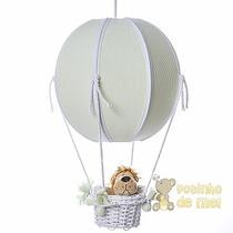Lustre Grande Balão Balãozinho Cesta Floresta Bebê Infantil