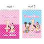 25 Bloquinho Personalizada Minnie Mickey Baby