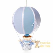 Lustre Grande Balão Balãozinho Cesta Menino Bebê Infantil