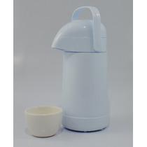 Garrafa Térmica Branca Pressão Troca Fraldas + Cumbuca Bebê