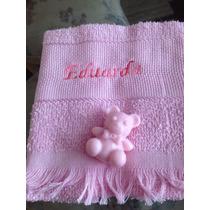Toalha De Mão Personalizada Com Sabonete