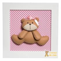 Quadro Enfeite Decorativo Quarto Bebê Infantil Ursa Ursinha