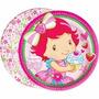 Prato Aniversário Festa Infantil Moranguinho Baby 16 Uni