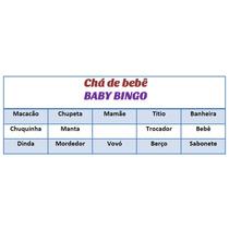 Baby Bingo Cartelas Imprimir Chá De Bebê Azul + Brindes
