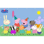 Painel Peppa Pig Banner Peppa Pig Lona - 0,90 X 1,40 Cm
