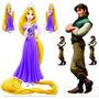 6 Display Rapunzel Totem Painel Cenário - 2 + 4