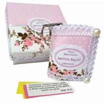 Kit Com 10 Caixas Lembrancinhas Batizado Menina Rosa Floral