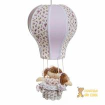 Lustre Balão Balãozinho Acinturado Lilás Menina Cesta Bebê