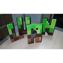 Decoração De Festa Display Cenario Letras Minecraft