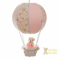 Lustre Grande Balão Balãozinho Cesta Ursa Bebê Infantil