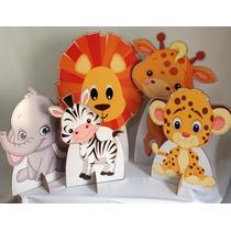Kit Cenário Display De Chão Safari Baby Com 5 Peças