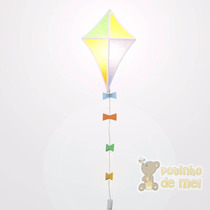 Arandela/ Abajur Parede Pipa Cores Menino Bebê Infantil