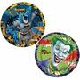 Prato Aniversário Festa Infantil Batman Clássico 24uni