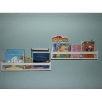 Prateleira Decorativa Livros Infantil 60x10x11 Frete 2 Unida