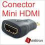 Adaptador Hdmi Macho X Mini Fêmea Full Hd 1080i Tablet Gold