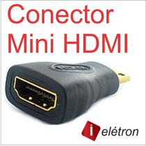 Adaptador Hdmi Macho X Mini Fêmea Full Hd 1080i Tablet Gold