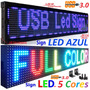 Painel Outdoor Indoor Letreiros Led Programável 1 Mts X 0,20