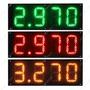 Painel De Led Preço Posto De Combustível 4 Dígitos 64cmx23cm