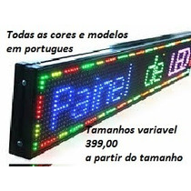 Painel Letreiro Digital Led Digitado Editavel Indoor Outdoor