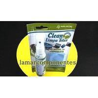 Limpa Telas Clean P/ Monitores,televisores Lcd,plasma E...