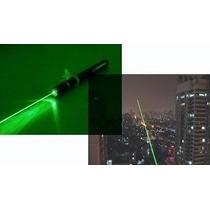 Caneta Laser Pointer Verde 8000mw + Kit Competo 8km 5 Pontas