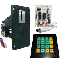 Kit Jukebox - Moedeiro 1 Real + Interface + Teclado De Ferro