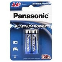 Pilha Aa Panasonic Alcalina Platinum Power C/2 Unid.
