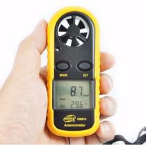 Anemômetro Digital Medidor Velocidade Do Vento Drone Termome