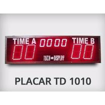Placar Cronometro Led Futsal E Outros Sem Fio Tech-display